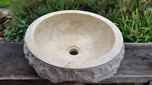 MARBLE Counter Top Vanity BASIN 40cm Grey & White Natural Golden Square Bendigo City Preview