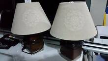 Wooden bedside table lamps - Great condition x 2 Beeliar Cockburn Area Preview