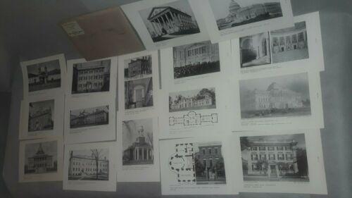 Historical U.S. Buildings,The University Prints Series, Cambridge, Mass., 20 Pri