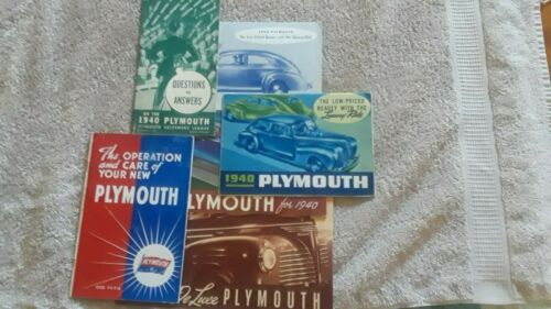 SIX DIFFERENT 1940 PLYMOUTH SALES BROCHURES