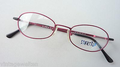 Binde Brillen kleine Fassung Metall Frauen oval Kinderbrille rund rot Grösse (Sunglasses Startup)