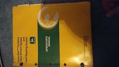 John Deere Greenstar Combine Yield Mapping System Operators Manual