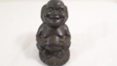 Vintage Hawaiian Lucky Menehune Lava Figurine Hawaii Souvenir