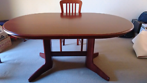 Extendable Wooden Dining Table & 6 Chairs Kambah Tuggeranong Preview