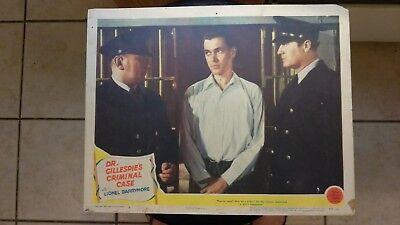 DR. GILLESPIE'S CRIMINAL CASE 1943 #6 11X14 LOBBY CARD LIONEL BARRYMORE D REED