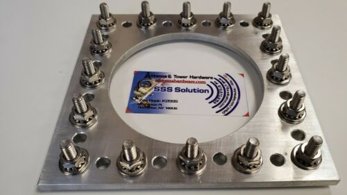 "Ant. Ground Radial Plate for GP-16 radials with SS Hardware & 4"" center hole"