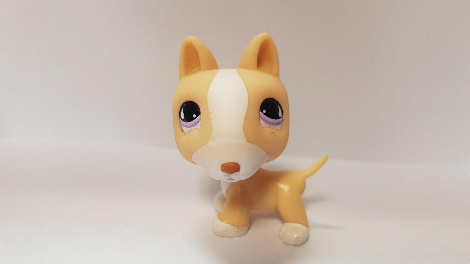 Figurine  petshop  original chien dog bull terrier 860 pet shop lps (7)