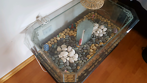 Glass and Wood Fish Tank Coffee Table Cabramatta West Fairfield Area Preview