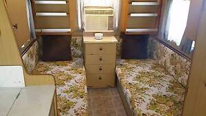 Retro Vintage Viscount Caravan 2 Single Beds & Air Conditioned. Henley Beach Charles Sturt Area Preview