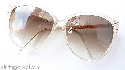 Vintage Sonnen-Brillen mit Verlauftönung Frauen hellbeige Sonnenschutz Grösse L
