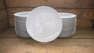 36 Stück Speiseteller Bratenteller Teller flach 26cm Porzellan weiss für Feste