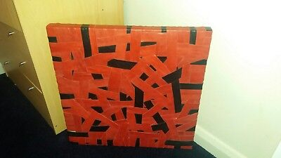 RED AND BLACK canvas picture