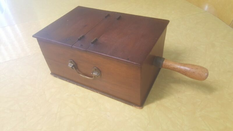 Vintage ELKS Club Wood Hinged Ballot Voting Box w/ Marbles and Cubes
