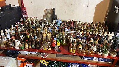 vintage mini alcohol bottles. Random Assortment. Mostly 1940's-1960's. Empty.