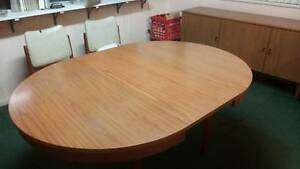 expandable dinning table with matching side board and extras Caringbah Sutherland Area Preview