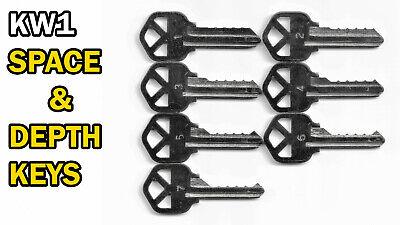 Kwikset Lock Kw1 Code Cut Space And Depth Keys 5 Pin