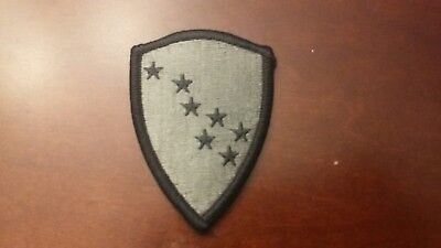 National Guard Acu Patch Foliage - US Army Alaska National Guard hook & pile tape ACU Patch in foliage green color