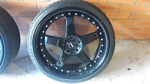"20"" mc racing wheels 5x114 staggered. Kogarah Bay Kogarah Area Preview"