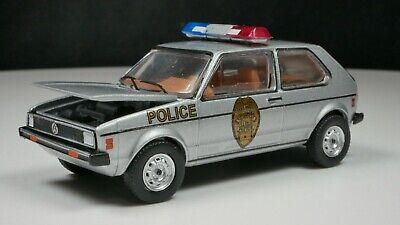1980 Volkswagen Rabbit 1/64 Scale Diecast Car Greensboro North Carolina Police