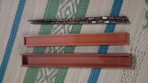 Vintage Japanese Chopsticks with Mother of Pearl inlay