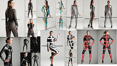 Metallic Bodysuit Catsuit Jump suit super hero Dancewear Costume S-2XL polyeste - Superhero Bodysuit