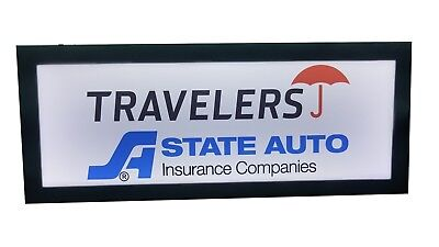 Insurance Sign .travelers State Auto Insurance Signled Light Box Signled Sign