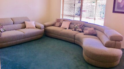 Nick Scali 2 Seater PLUS 5 Seater Chaise Lounge Suite