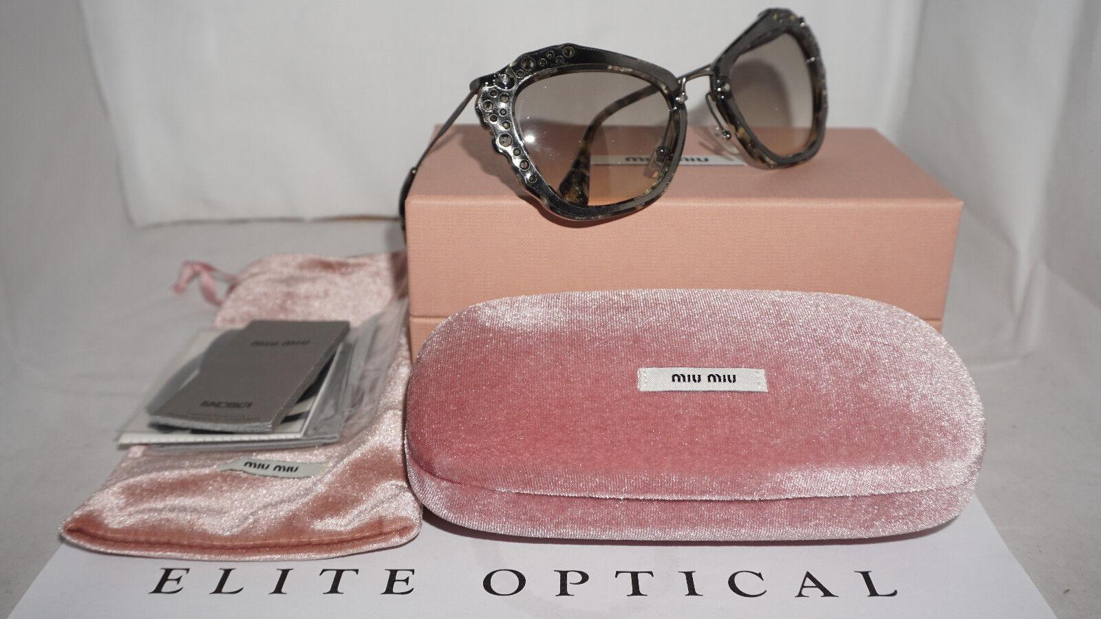 2e1d9cd3e51d 8053672576023 EAN - Miu Miu Embellished Cat Eye Sunglasses