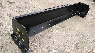 LINVILLE  8' Low profile  SNOW PUSHER Skid steer   bobcat plow steel