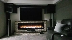 Custom built  electric fireplace n mantels