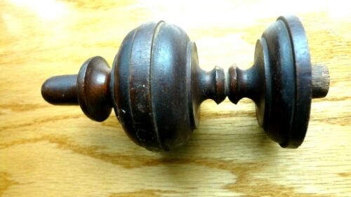 Small antique wood post finial end cap Wooden topper