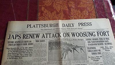 1932 Newspaper Japanese Shanghai incident war lake placid olympics speed skating