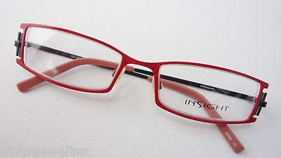 Schmale Brillenfassung für Frauen Teilrandlos Rot-Lila Metall Brillen Grösse M