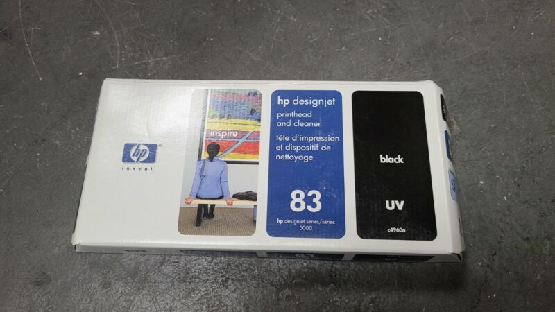 HP C4960A Genuine Printhead and Cleaner HP 83 Black Printhead in Box 2015 Exp