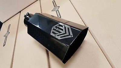 """OFFROAD ARSENAL 4"""" INLET 7"""" OUTLET 18"""" OCTAGON DIESEL EXHAUST TIP GLOSS BLACK T"""