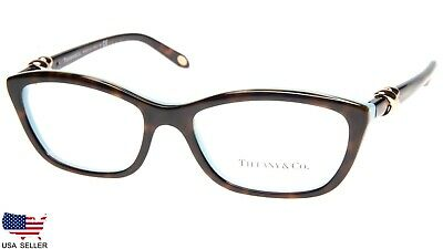 91545f490f29 NEW TIFFANY   Co. TF 2074 8216 HAVANA  BLUE EYEGLASSES 52-16-