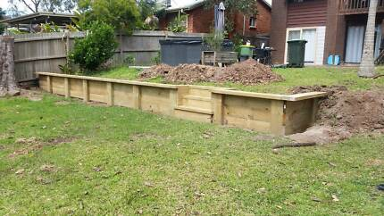 mowing,Excavations,Retaining walls,Fencing,Concreting