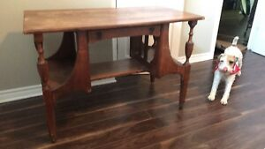 Antique red oak desk