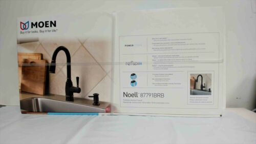 MOEN Noell Single-Handle Pull-Down Sprayer Kitchen Faucet with Reflex 87791BRB