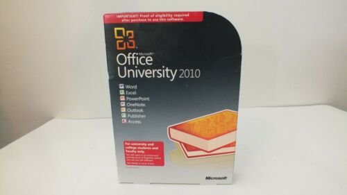 Microsoft Office 2010 Professional University XP thru 7/10 GENUINE Word Excel +