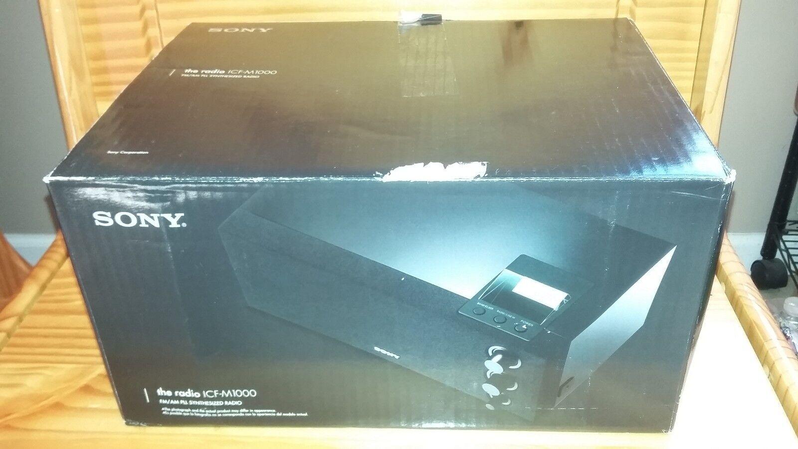 Sony ICF-M1000 FM/AM PLL synthesized Digital Tuning w/ LCD Clock Display Bass