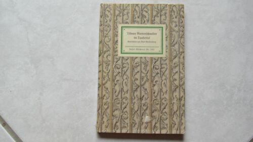Buch: Insel- Bücherei Nr. 545 · Tilman Riemenschneider im Taubertal · Tonpapier'