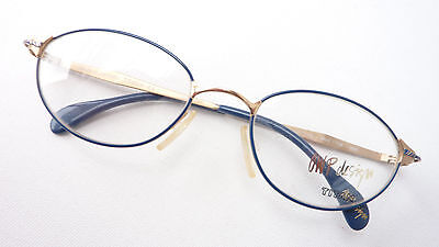Titanbrillen Glasses Frames for Women Lightweight and Nickel Free Blue/Golden (Titanbrillen)
