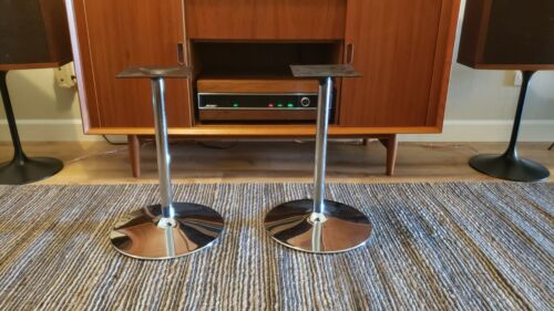RARE VINTAGE MID CENTURY CHROME LOOK FOR BOSE 901 SPEAKER STANDS OR OTHERS