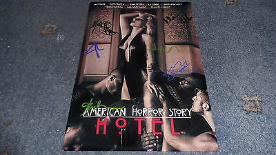 "AMERICAN HORROR STORY : HOTEL PP SIGNED 12""X8"" A4 PHOTO POSTER EVAN PETERS GAGA"