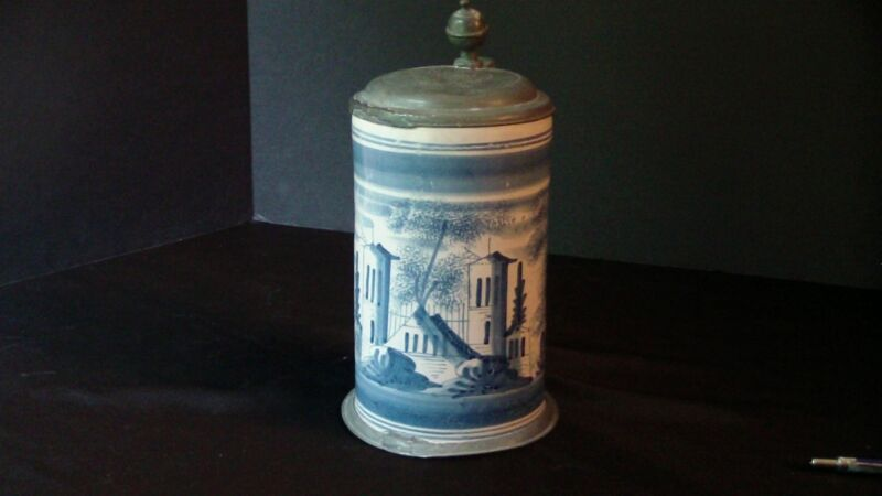 A Delft Blue and White Tankard 1775