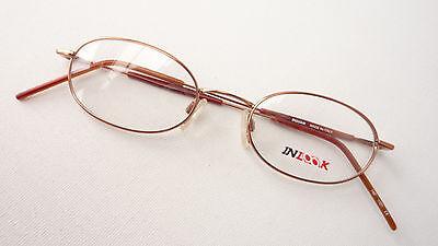Brille Gestell Metall Fassung oval Metallrand kupfer unisex filigran size M