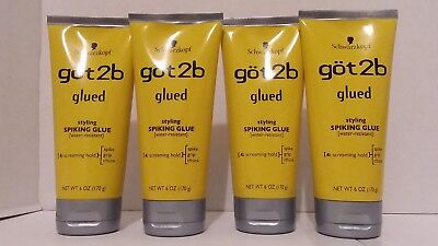 Schwarzkopf got2b Styling Spiking Glue Water Resistant 4:Screaming Hold Lot of 4