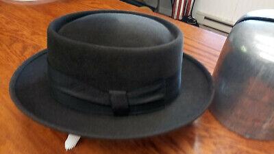 1950s Mens Hats | 50s Vintage Men's Hats Late 1950's Dobbs seal finish drk brown porkpie, size 7 1/8 $78.00 AT vintagedancer.com