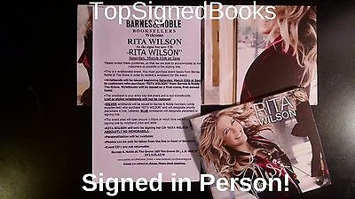 SIGNED Rita Wilson RITA WILSON CD Autographed in person Tom Hanks new (Rita Wilson-cd)